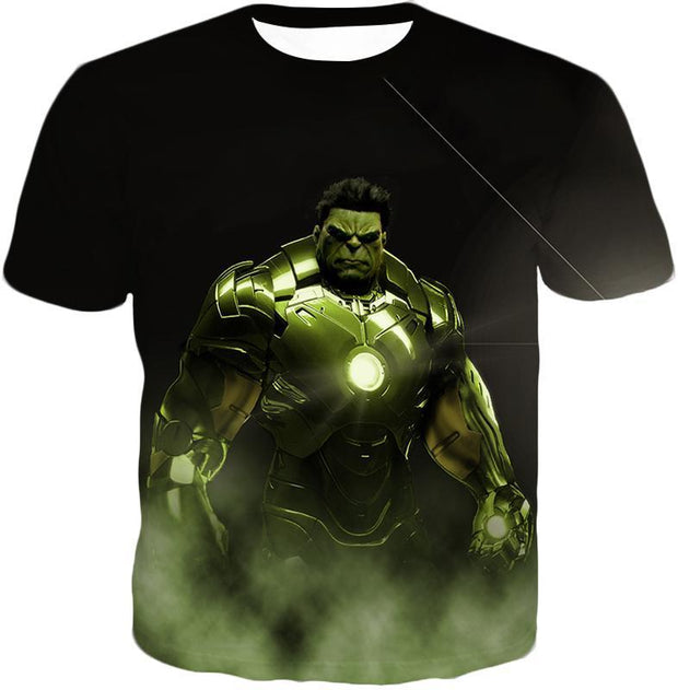 OtakuForm-OP Zip Up Hoodie T-Shirt / XXS Super Hulk in Iron Mans Hulkbuster Suit Black Zip Up Hoodie