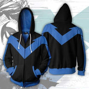 OtakuForm-OP Cosplay Jacket Zip Up Hoodie / XS Superhero Hoodie - Nightwing v2 Jacket