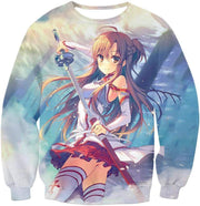 OtakuForm-OP Zip Up Hoodie Sweatshirt / XXS Sword Art Online and Sexy Yuuki Asuna Avatar Cool Anime Promo Zip Up Hoodie  - Sword Art Online Zip Up Hoodie