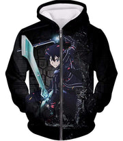 OtakuForm-OP Zip Up Hoodie Zip Up Hoodie / XXS Sword Art Online Awesome Kirito Cool Sword Action Anime Graphic Zip Up Hoodie
