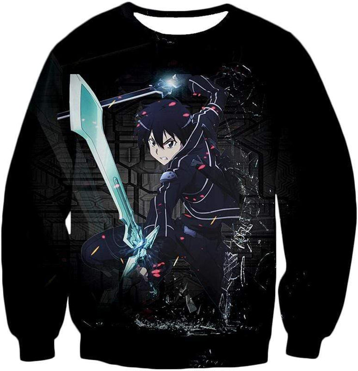 OtakuForm-OP Zip Up Hoodie Sweatshirt / XXS Sword Art Online Awesome Kirito Cool Sword Action Anime Graphic Zip Up Hoodie