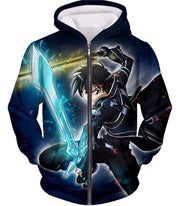 OtakuForm-OP Zip Up Hoodie Zip Up Hoodie / XXS Sword Art Online Awesome Kirito Swordplay Action Graphic Zip Up Hoodie - Sword Art OnlineHoodie