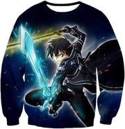 OtakuForm-OP Zip Up Hoodie Sweatshirt / XXS Sword Art Online Awesome Kirito Swordplay Action Graphic Zip Up Hoodie - Sword Art OnlineHoodie