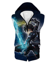 OtakuForm-OP Zip Up Hoodie Hooded Tank Top / XXS Sword Art Online Awesome Kirito Swordplay Action Graphic Zip Up Hoodie - Sword Art OnlineHoodie
