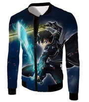 OtakuForm-OP Zip Up Hoodie Jacket / XXS Sword Art Online Awesome Kirito Swordplay Action Graphic Zip Up Hoodie - Sword Art OnlineHoodie