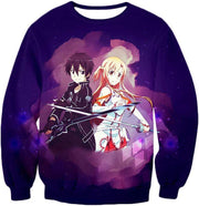 OtakuForm-OP Zip Up Hoodie Sweatshirt / XXS Sword Art Online Best Anime Couple Kirito and Asuna Cool Action Anime Zip Up Hoodie