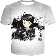 OtakuForm-OP Sweatshirt T-Shirt / XXS Sword Art Online Cool Hero Kirigaya Kazuto aka Kirito Action White Sweatshirt - Sword Art Online Sweater