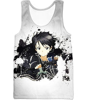 OtakuForm-OP Sweatshirt Tank Top / XXS Sword Art Online Cool Hero Kirigaya Kazuto aka Kirito Action White Sweatshirt - Sword Art Online Sweater