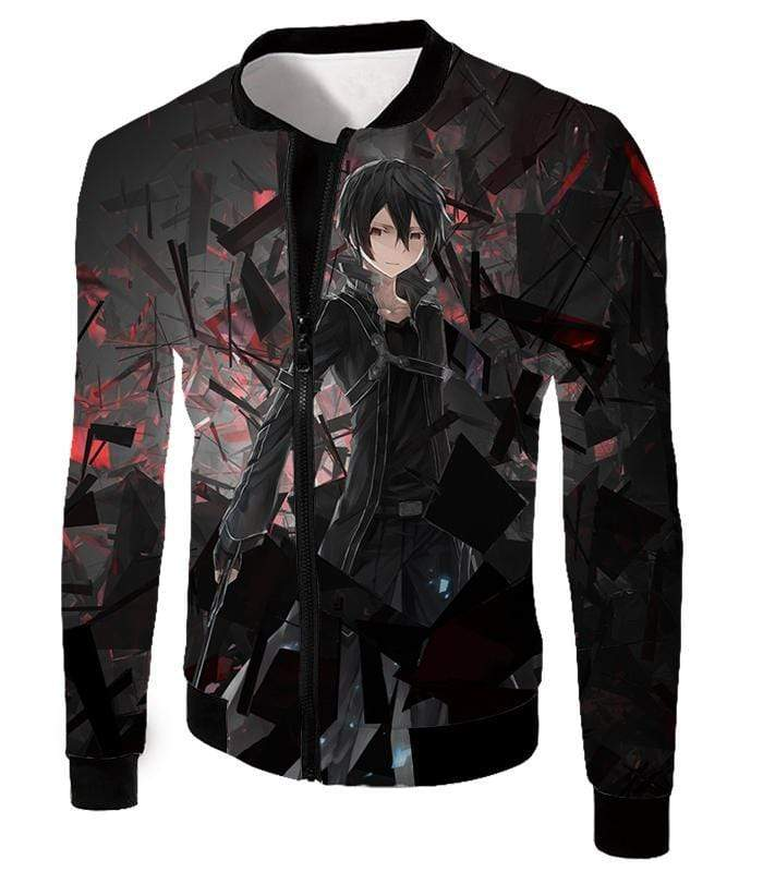OtakuForm-OP Zip Up Hoodie Jacket / XXS Sword Art Online Extremely Awesome Kirito The Black Swordsman Zip Up Hoodie - Sword Art OnlineHoodie