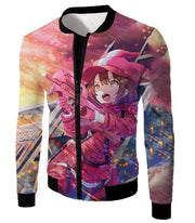 OtakuForm-OP Hoodie Jacket / XXS Sword Art Online Pink Devil LLENN Action Gun Gale Online Player Graphic Hoodie - SAO Merch Hoodie