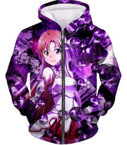OtakuForm-OP Zip Up Hoodie Zip Up Hoodie / XXS Sword Art Online Super Cute Asuna Yuuki Graphic Zip Up Hoodie - SAO MerchandseHoodie