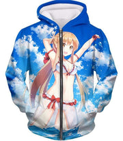 OtakuForm-OP T-Shirt Zip Up Hoodie / XXS Sword Art Online Super Sexy Anime Blonde Yuuki Asuna Cool Promo T-Shirt  - SAO Merch T-Shirt