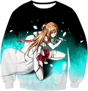OtakuForm-OP Sweatshirt Sweatshirt / XXS Sword Art Online Super Swordsman Asuna Cool Action Anime Graphic Sweatshirt