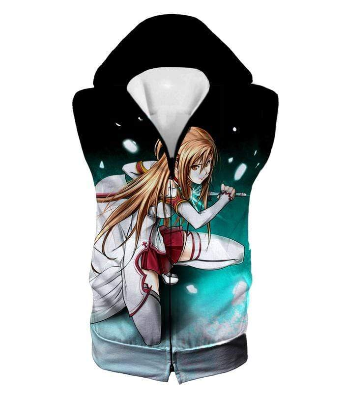 OtakuForm-OP Sweatshirt Hooded Tank Top / XXS Sword Art Online Super Swordsman Asuna Cool Action Anime Graphic Sweatshirt