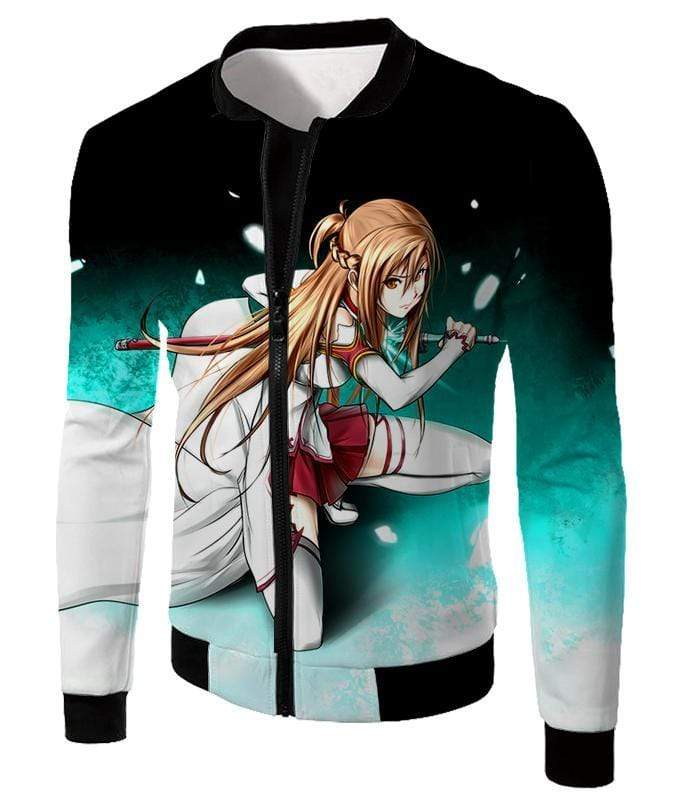 OtakuForm-OP Sweatshirt Jacket / XXS Sword Art Online Super Swordsman Asuna Cool Action Anime Graphic Sweatshirt