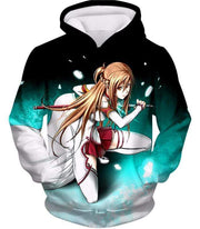 OtakuForm-OP Sweatshirt Hoodie / XXS Sword Art Online Super Swordsman Asuna Cool Action Anime Graphic Sweatshirt