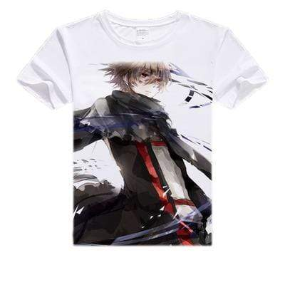 Anime Merchandise T-Shirt M Sword Art Online T-Shirt - Eugeo in Trench Coat T-Shirt