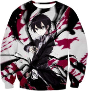 OtakuForm-OP Hoodie Sweatshirt / XXS Sword Art Online The Black Swordsman Kiriti aka Kirigaya Kazuto Cool Action Anime Hoodie - Sword Art Online Hoodie