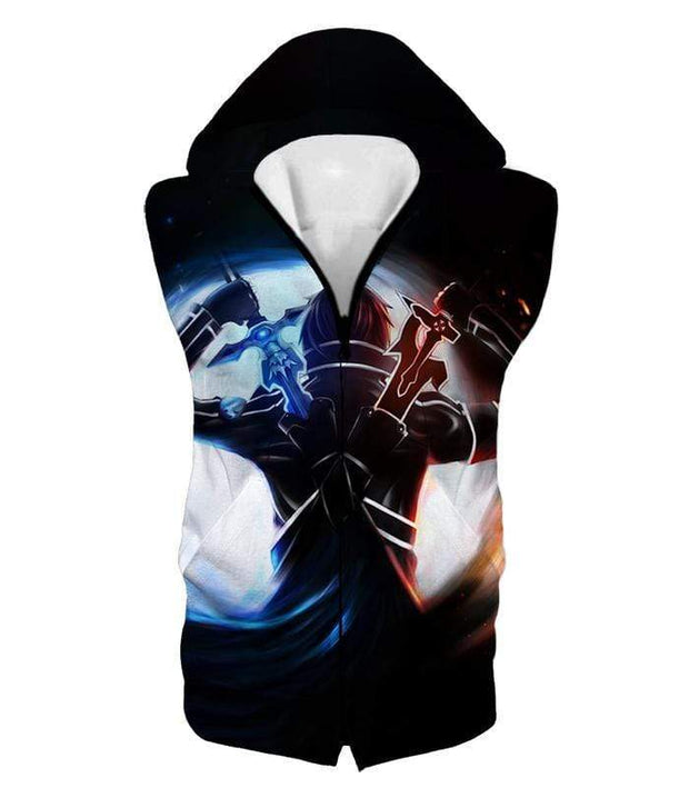 OtakuForm-OP Hoodie Hooded Tank Top / XXS Sword Art Online Ultimate Player Kirito aka The Black Swordsman Cool Graphic Action Hoodie