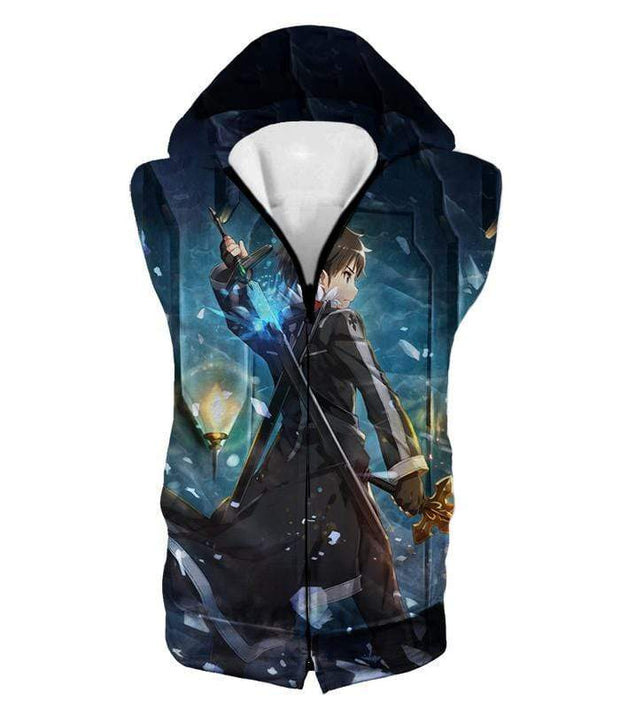 OtakuForm-OP Hoodie Hooded Tank Top / XXS Sword Art Online Ultimate Swordsman Kirito Anime Action Graphic Promo Hoodie  - Sword Art Online Hoodie