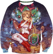 OtakuForm-OP T-Shirt Sweatshirt / XXS Sword Art Online Yuuki Asuna Promo Christmas Theme Cool Graphic T-Shirt  - Sword Art Online T-Shirt