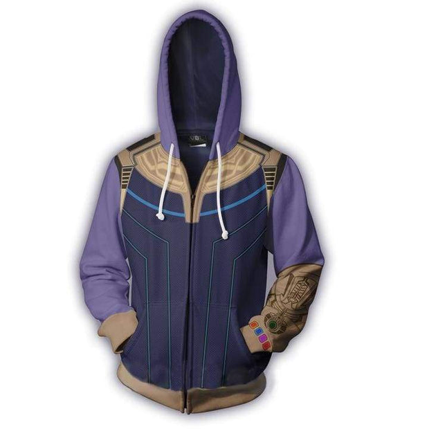 OtakuForm=OP Cosplay Jacket Zip Up Hoodie / US XS (Asian S) Thanos Hoodie Jacket
