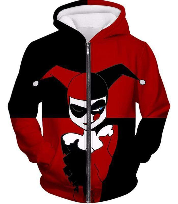 OtakuForm-OP T-Shirt Zip Up Hoodie / XXS The Animated Villain Harley Quinn Promo Red and Black T-Shirt
