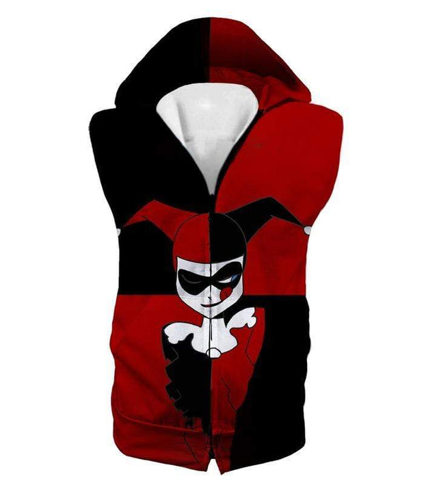 OtakuForm-OP T-Shirt Hooded Tank Top / XXS The Animated Villain Harley Quinn Promo Red and Black T-Shirt