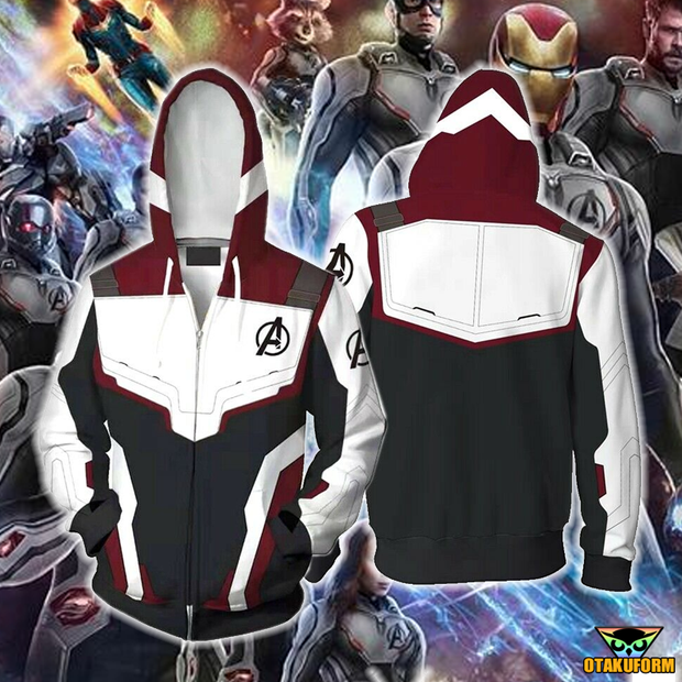 OtakuForm-OP Cosplay Jacket Zip Up Hoodie / XS The Avengers 4 Avengers: Endgame Quantum Realm White Suit Cosplay Hoodie