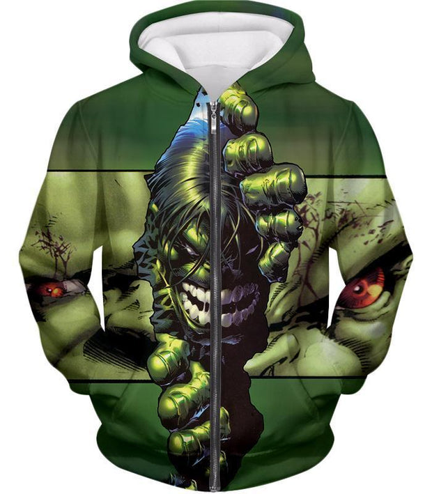 OtakuForm-OP Zip Up Hoodie Zip Up Hoodie / XXS The Green Monster Hulk Zip Up Hoodie