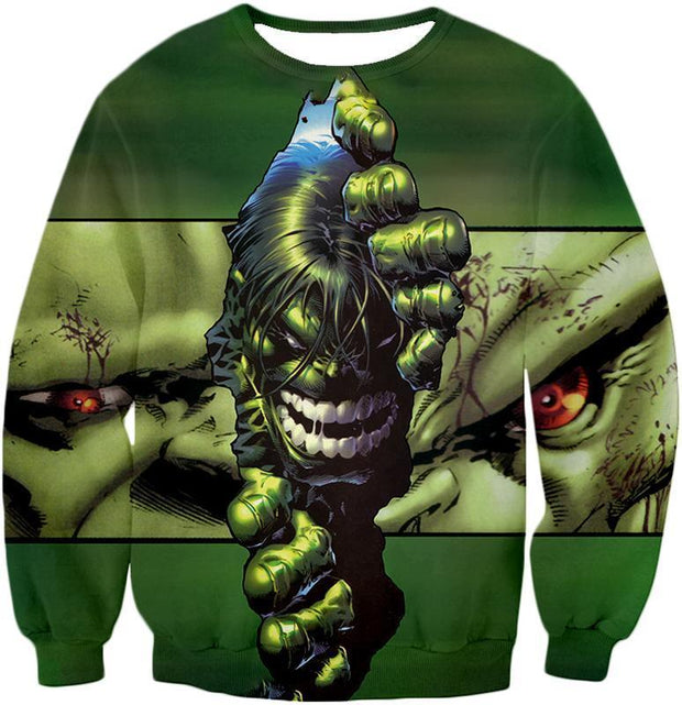 OtakuForm-OP Zip Up Hoodie Sweatshirt / XXS The Green Monster Hulk Zip Up Hoodie