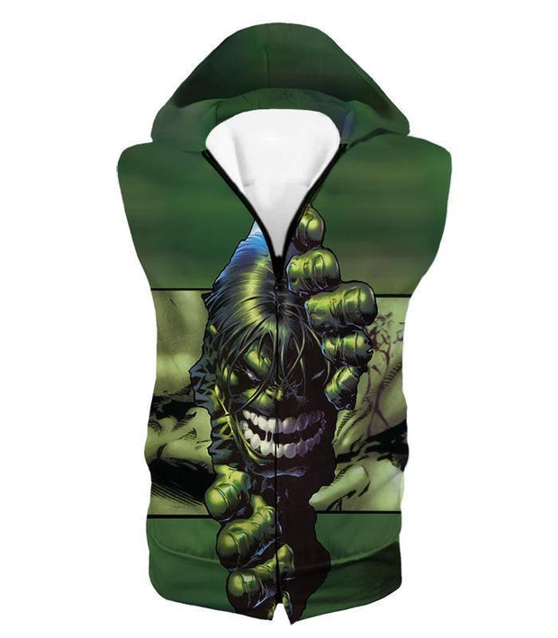 OtakuForm-OP Zip Up Hoodie Hooded Tank Top / XXS The Green Monster Hulk Zip Up Hoodie