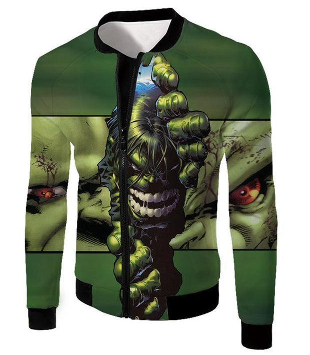 OtakuForm-OP Zip Up Hoodie Jacket / XXS The Green Monster Hulk Zip Up Hoodie