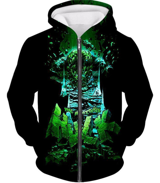 OtakuForm-OP Zip Up Hoodie Zip Up Hoodie / XXS The Incredible Hulk Animated Promo Zip Up Hoodie