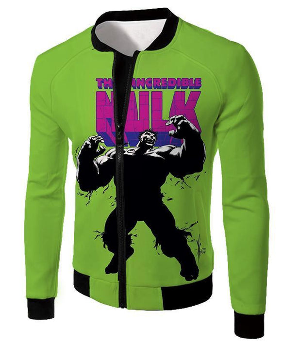 OtakuForm-OP Hoodie Jacket / XXS The New Incredible Hulk Promo Green Hoodie