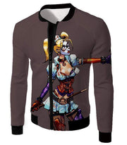 OtakuForm-OP Sweatshirt Jacket / XXS The Super-Hot Clown Villain Harley Quinn Cool Grey Sweatshirt