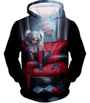 OtakuForm-OP Zip Up Hoodie Hoodie / XXS Ultimate Blonde Female DC Villain Crazy Harley Quinn Promo Black Zip Up Hoodie