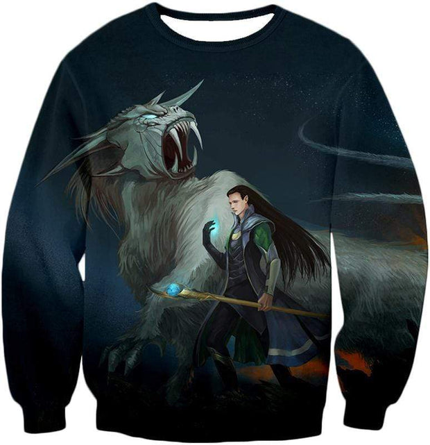 OtakuForm-OP T-Shirt Sweatshirt / XXS Ultimate Marvel Villain Loki Animated Print T-Shirt