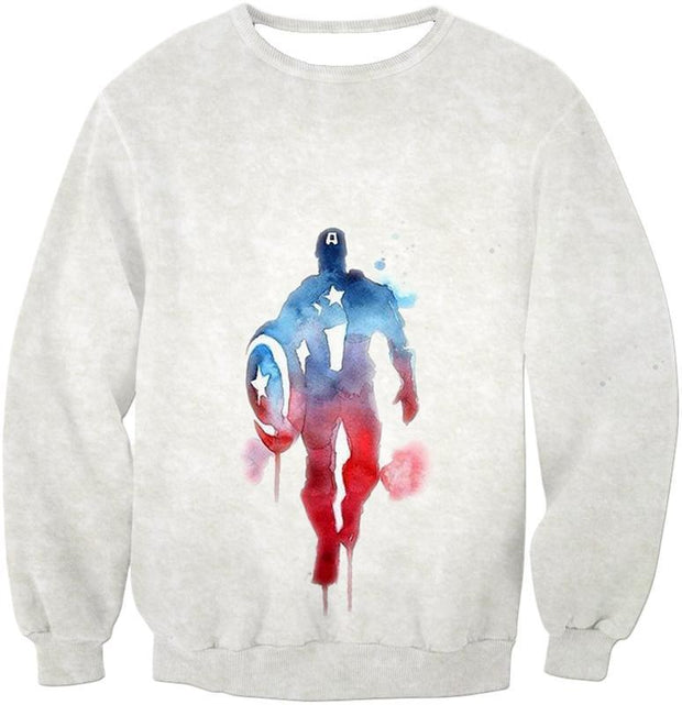OtakuForm-OP Zip Up Hoodie Sweatshirt / XXS UltimateMarvelComic Hero Captain America Promo White Zip Up Hoodie