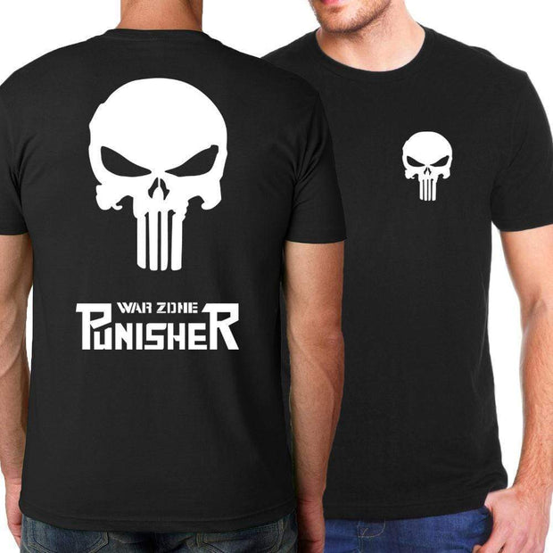OtakuForm-SH T-Shirt S / Black War Zone PUNISHER Short Sleeve Shirt for Men
