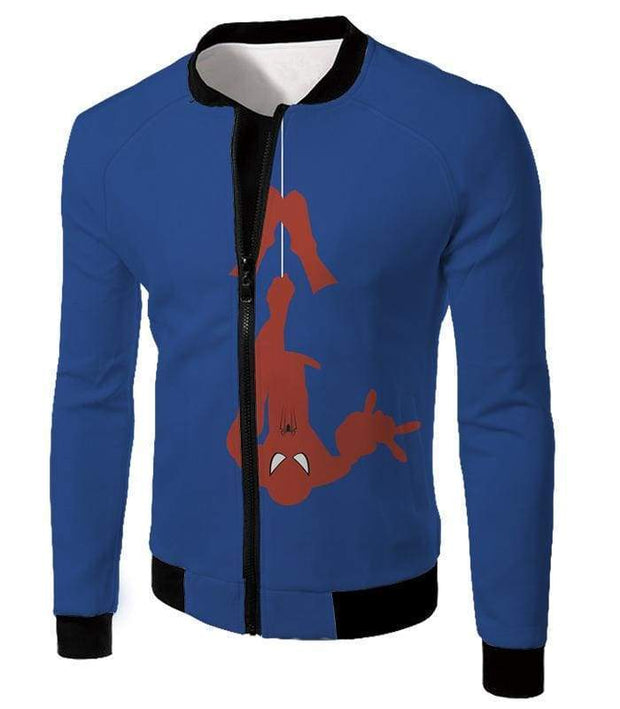 OtakuForm-OP T-Shirt Jacket / XXS Web Slinging Cool American Hero Spiderman Blue Action T-Shirt
