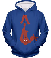 OtakuForm-OP T-Shirt Hoodie / XXS Web Slinging Cool American Hero Spiderman Blue Action T-Shirt