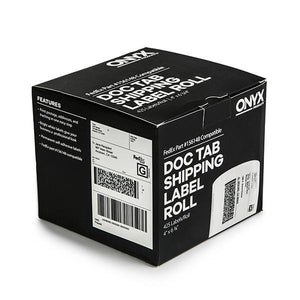 "ONYX Products<sup>&reg;</sup> 4"" x 6 3/4"" FedEx DocTab Shipping Label Rolls, 425 Labels/Roll"
