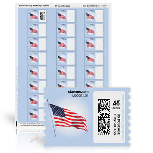 American Flag NetStamps<sup>&reg;</sup> Sheets
