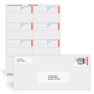 3-Part Postage, Delivery and Return Address Labels