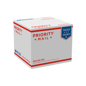 "Priority Mail Box 6 1/2"" x 7 1/4"" x 7 1/4"""