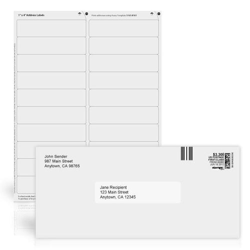"1"" x 4"" White Address Labels"
