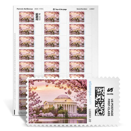 Jefferson Cherry Blossoms NetStamps<sup>&reg;</sup>
