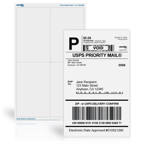 "4"" x 6 1/2"" Shipping Labels"
