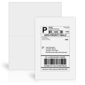 "5 1/2"" x 8 1/2"" Shipping Labels"